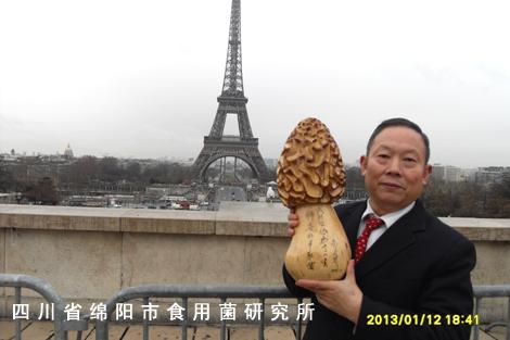 朱教授在法国埃菲尔铁塔